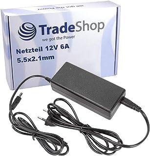 Högklassig universell nätdel 12 V 6 A laddningskabel laddare 5,5 x 2,1 mm för Bluetooth-förstärkare FritzBox DVD-spelare b...