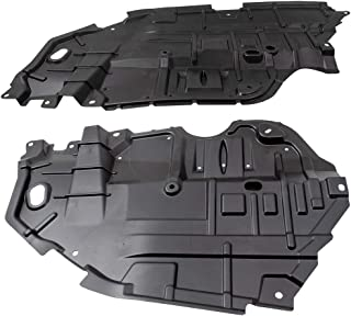 BROCK Pair Set Front Engine Under Cover Lower Left Splash Shield Guards for 2012 2013 2014 Toyota Camry replaces 5144206140 5144106150 TO1228178 TO1228177