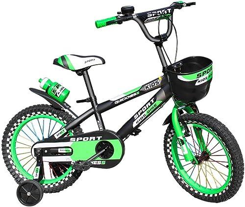 Bicyclehx 12 14 16 Pouces Montagne Pédale Vélo épais Pneus Alliage Vélo Enfants Durable Durable Vélo Enfant avec Roues Auxiliaires + Bouilloire
