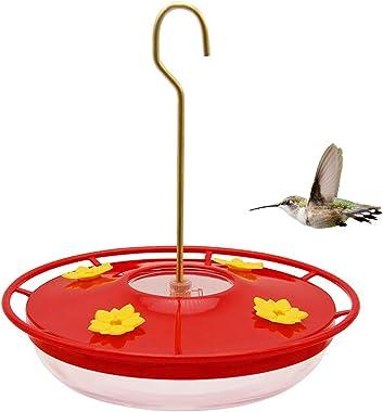 Lulu Home Hummingbird Feeder, 12 Ounce Bird Flower Feeders with 4 Feeding Stations for Outside