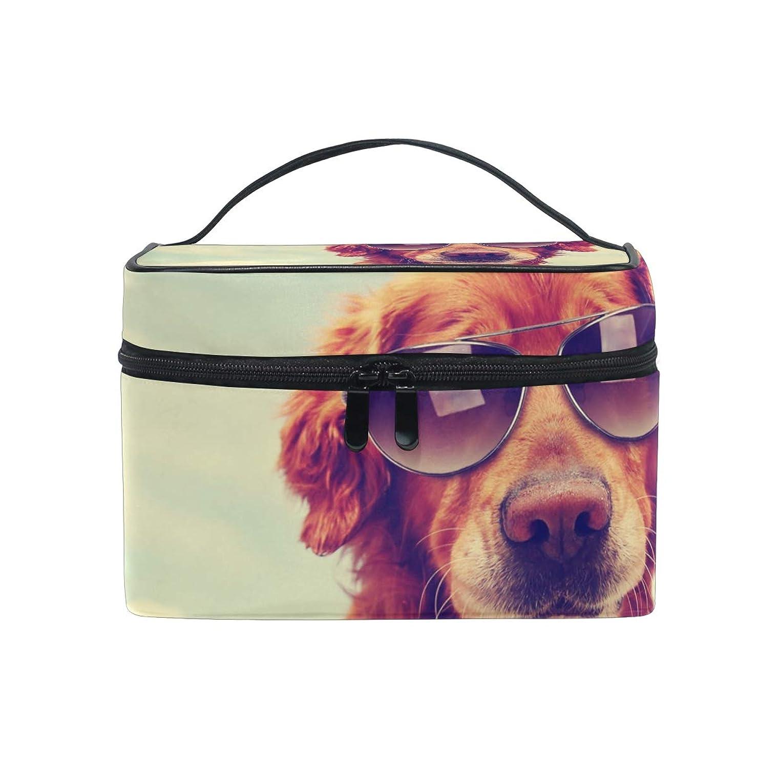 解決ジャベスウィルソンハッチUOOYA 犬柄 おしゃれ メイクボックス 大容量 持ち運び メイクポーチ 人気 小物入れ 通学 通勤 旅行用 プレゼント用