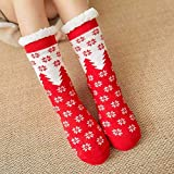 ZZbaixinglongan - Calcetines Antideslizantes para Mujer, diseño navideño, Hombre, 2