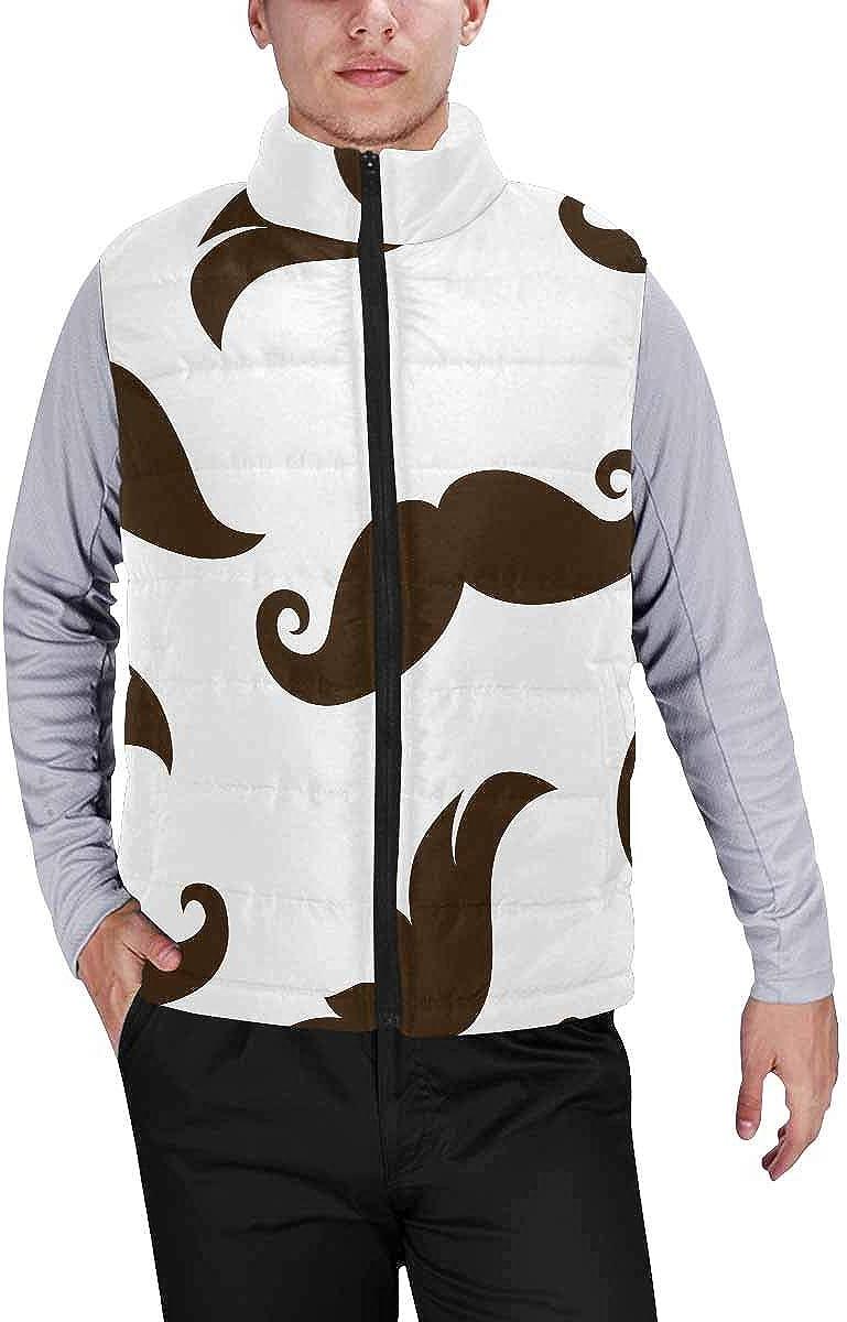 InterestPrint Men's Lightweight Sleeveless Jacket for Travel Hiking Running Musical Notes