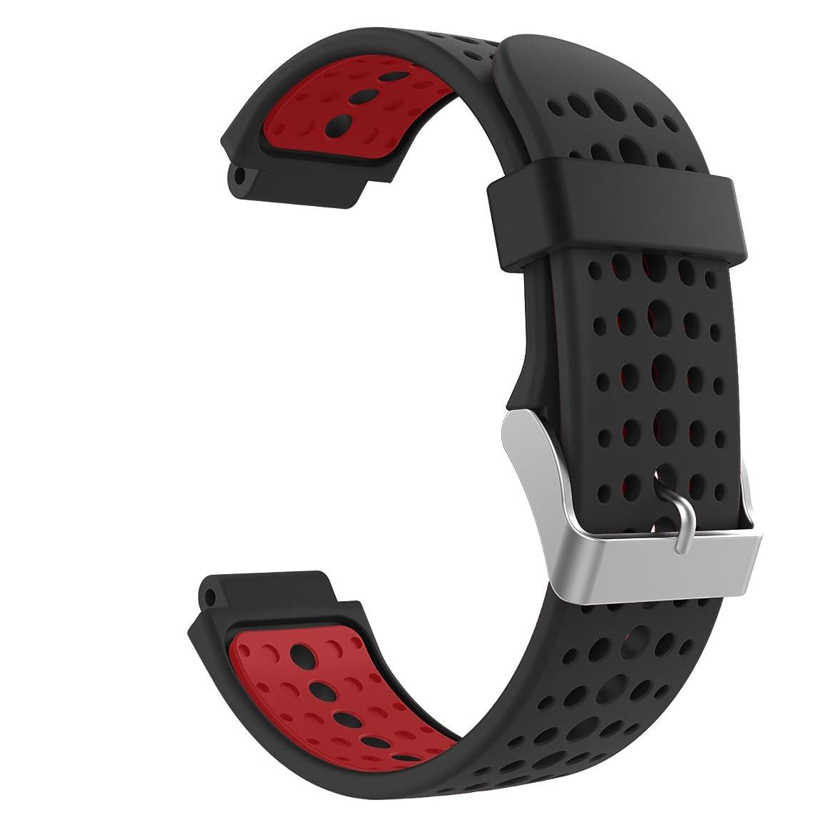 議題目指すパウダーGarmin ForeAthlete 235J バンド - ATiC Garmin ガーミン ForeAthlete/Forerunner 235J/220J/230J/620J/630J/735XTJ /235 Lite ベルト バンド 交換ベルト ソフト 高級 シリコーン製腕時計ストラップ/バンド 交換ベルト