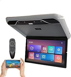 Monitor de DVD para carro de 19 polegadas,Monitor de vídeo digital HD 1080P para carro,com luz ambiente, ângulo de abertur...