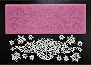 FOUR-C Baking Decorating Embossing Silicone Mat Lace Cake Pad (MJ-MHC-050)