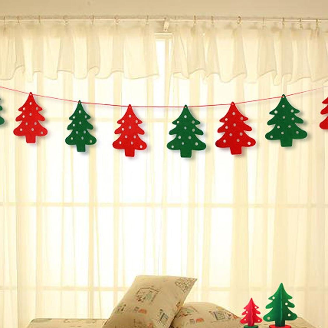 解釈的帽子インシデントクリスマス 飾り 部屋 フェルト フラッグ ガーランド クリスマスツリー 飾り パーティー 飾り クリスマスグッズ 保育園の飾り付け 15*20cm