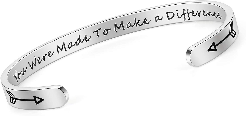 SAM LORI shipfree Inspirational Cuff Max 48% OFF Bracelet Keep Bangle Going Motivat