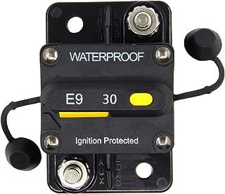 ZOOKOTO 30 Amp Circuit Breaker, Marine Trolling Motors Boat ATV Manual Power Fuse Rest, Waterproof 12V- 48V DC (30A)