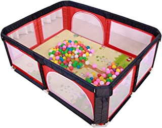 JXXDDQ Safety Playpen Kids Fence with Breathable Net, Washable Ocean Ball Pool Set Safety Play Center Fence Room Divider (Color : B)