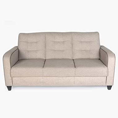 Home Centre Montoya Serene Fabric Sofa-3 Seater Beige