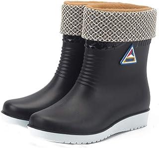 ZOSYNS Regenlaarzen voor dames, rubberen laarzen, antislip, slijtvast, waterlaarzen, lange waterschoenen, outdoorschoenen,...