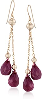 costume ruby earrings