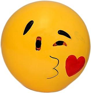 Hucha de cerámica con Emoticono Beso con Amor