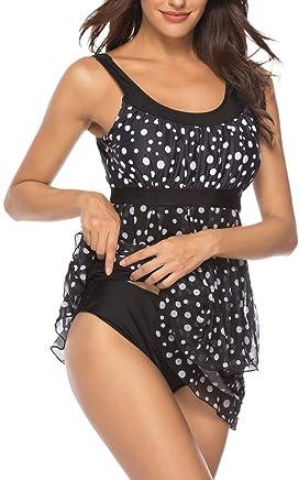 Women Tummy Control Swimwear Swimsuits Boyshorts Long Torso 2 Piece Bathing Suit Modest Tankini Sets Plus S-XXXL