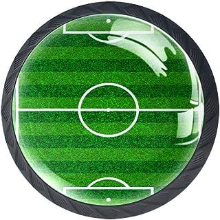 Fútbol Campo de fútbol Armario Aparador Perillas de los cajones Forma de círculo Tirador de vidrio para puerta del gabinet...