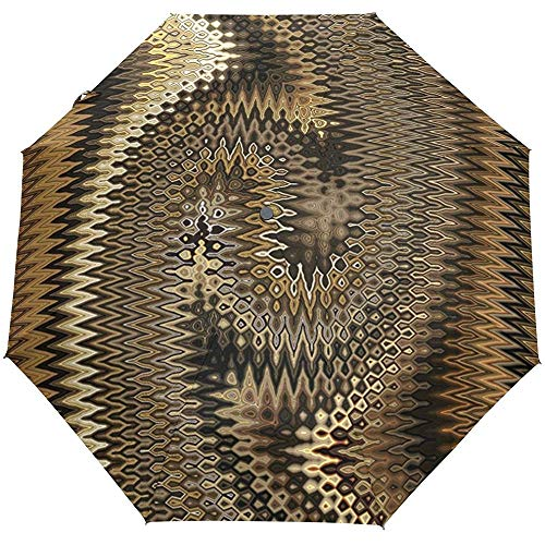 Abstract Metal Texture Auto Open Close Sun Rain Umbrella