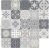 Panthem - 24 adesivi per piastrelle a mosaico, autoadesivi, per cucina, bagno (20 x 20 cm)