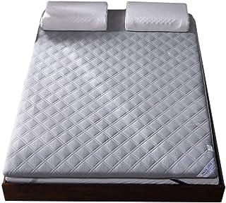 WJXBoos Premium Algodón Colchón Plegable, Espesar Respirable No Era-Slip Cubre Colchón Acolchado Hipoalergénico Colchón Futón Tatami-Gris 80x190cm(31x75inch)