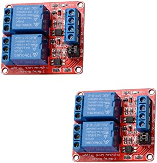 2 pcs 5V 2 Channel DC 5V Relay Module with Optocoupler High/Low Level Trigger Expansion Board for Arduino