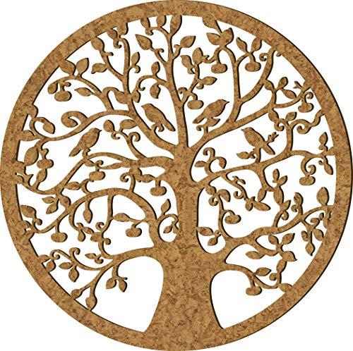 Baum des Lebens Wand Rund Holz Ø 39 cm |Keltik-Lebensbaum | Dekoration | Wandbild-Rund | Dunkle Wanddeko Baum | Verschiedene Designs | Dekobaum |Wanddekor groß |Holzbaum