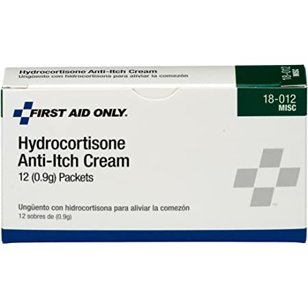 First Aid Only 18-012 Hydrocortisone Anti-Itch Cream Packet (Box of 12)