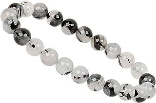 TURMALINQUARZ Armband  ca 18,5-19 cm Kugelarmband 6 mm Perlen Edelstein