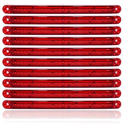 10x Rot 15 LED 24V Seitenmarkierungs Begrenzungsleuchte Positionsleuchte Markierung LKW PKW Anhänger