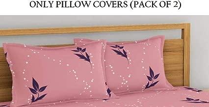 Home Ecstasy 100% Cotton Pillow Covers Set of 2 Cotton, 140tc Floral Pink Cotton Pillow Covers 18 x 27 Set of 2 Cotton Pillowcase
