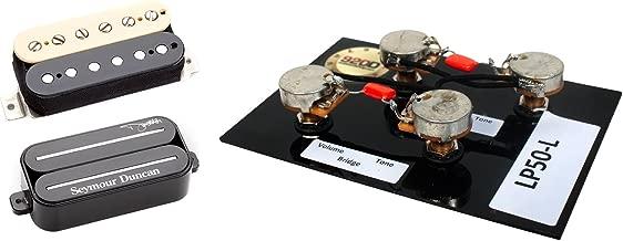 Duncan Dimebag Signature Pickup Set, Black/Zebra + Free Les Paul Wiring Harness