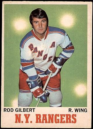 Amazon.com: 1970 O-Pee-Chee # 63 Rod Gilbert New York Rangers-Hockey  (Hockey Card) VG/EX Rangers-Hockey : Collectibles & Fine Art