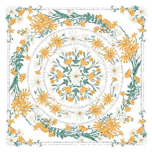 KHKJ Mandala Tapiz Colgante de Pared Flor psicodélico Tapiz Colgante de Pared decoración para Sala de Estar Dormitorio Planta Bohemia A3 200x180cm
