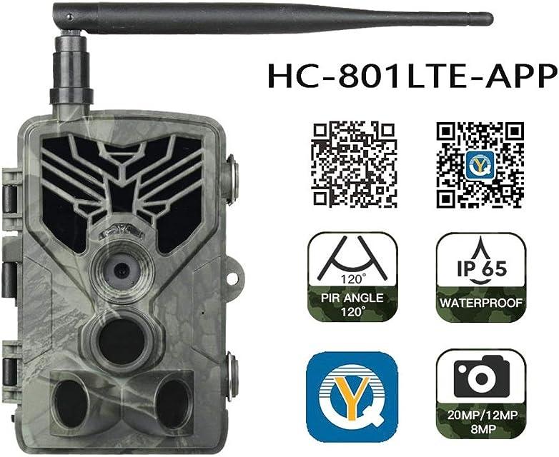 4G fauna de caza Cámaras APP Cloud Service Trail cámaras de vigilancia de la cámara 120 ° Gran Angular HD 20MP 0.3S Disparador infrarrojos de visión nocturna Cámaras salvaje con 5000 mAh de la bater