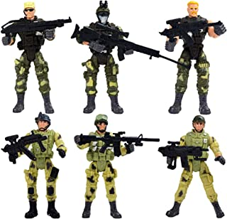 TOYANDONA 6pcs Special Forces Toys Elite Force Army Ranger Action Figure with Military Weapons Military Toy Soldiers Plays...