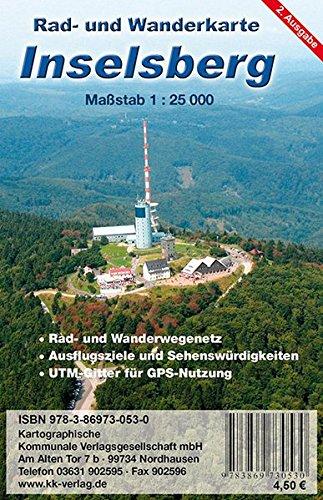 Inselsberg: Rad- und Wanderkarte