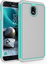 Case for Samsung Galaxy J7 2018 / J7 V 2nd Gen / J7V 2018 / J7 Refine / J7 Star / J7 Aero / J7 Top / J7 Crown / J7 Aura / J7 Eon, SYONER [Shockproof] Protective Phone Case Cover [Turquoise/Gray]