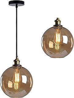 Szklany wisiorek abażur świetlny, vintage szkło industrialne oświetlenie sufitowe dopasowanie regulowane kable szklana kul...