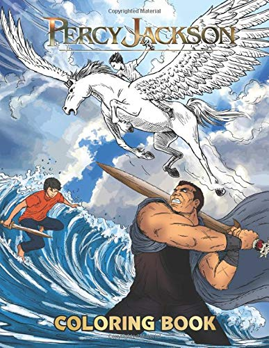 Percy Jackson Coloring Book: Famous Greek Gods Big Pictures Coloring Book Fun Kids Color Book: Full Page Black And White Drawings To Be Colored In By Children And Kids Of All Ages
