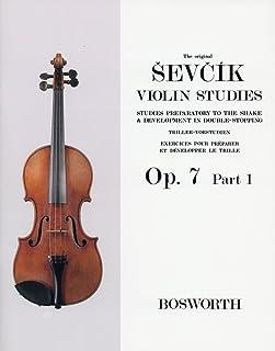 シェフチーク(セヴシック): トリルとダブル・ストップの予備練習 Op.7 パート 1/ボスワース社/バイオリン教本