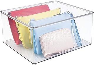 mDesign Cajas para guardar ropa apilables y con tapa – Pr
