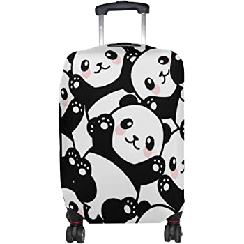 Fashion Travel Cute Panda Gifts With Red Heart Luggage Suitcase Protector Washable Baggage Covers