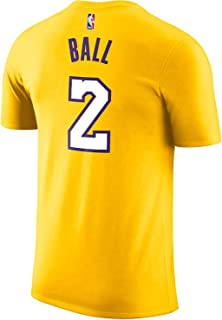 Outerstuff Lonzo Ball Los Angeles Lakers #2 Yellow Youth Performance Name & Number Shirt (X-Large 18/20)
