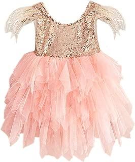 Áo quần dành cho bé gái – Girl Sequin Lace Tutu Tulle Party Birthday Princess Flower Girl Dress