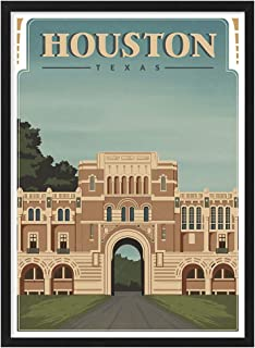 USA Texas Houston See America Vintage Travel Poster Art Print Painting Home Decoration Gift