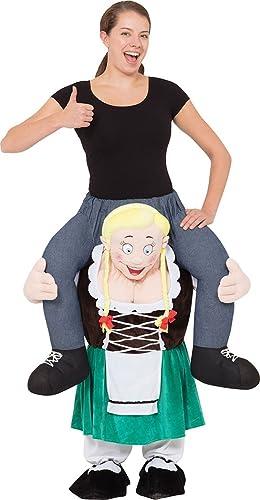 onlyglobal Bayrisch Damen Mascot Halloween Party Kostüm Kleid Outfit EinheitsGröße