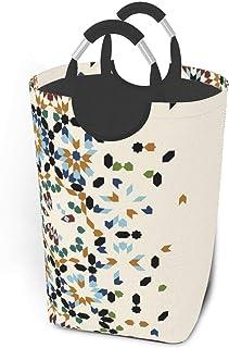 Liumt Modèle Pliable avec Panier à Linge de Panier de Rangement d'ornement du Maroc, Sac de vêtements Sale Pliable avec po...