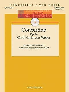 Carl Fischer Weber-Concertino, Op. 26, Opus 26-Clarinet, Piano