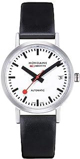 Mondaine - Classic- Reloj de Cuero Negro para Hombre y Mujer, A128.30008.16SBB, 33 MM
