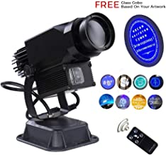 30w GOBO Logo Projector Led Custom Image with Manual Zoom and Focus Custom Pattern for Hotel Bar Restaurant Wedding (30W HD Rotation (Indoor))