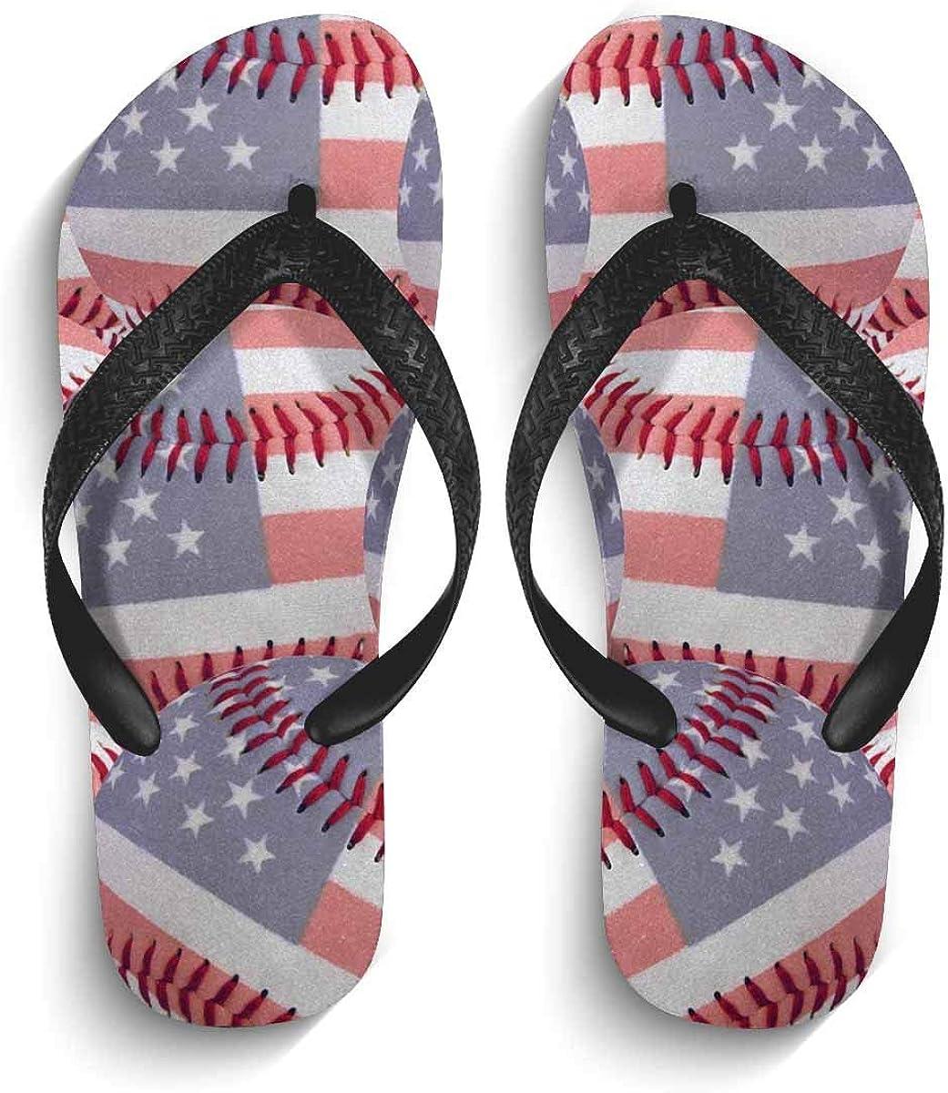 InterestPrint Men's Non-Slip Flip Flops Starfish Summer Holiday Tropical Beach Sea Sand Thongs Sandals for Beach Lounging Home
